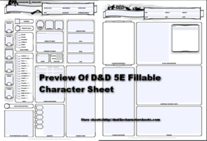 image regarding Printable Dnd Character Sheet named Dungeons Dragons 5e Persona Sheet With All PDFs
