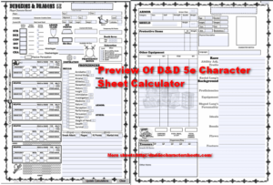 image regarding 5e Character Sheet Printable known as Dungeons Dragons 5e Temperament Sheet With All PDFs