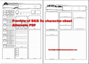 Dungeons & Dragons 5e Character Sheet With All PDF's (Editable
