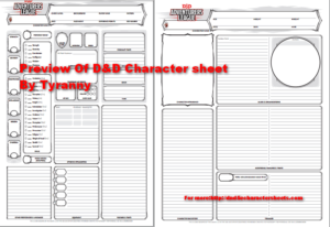 image about Dungeons and Dragons Printable Character Sheet referred to as Dungeons Dragons 5e Persona Sheet With All PDFs